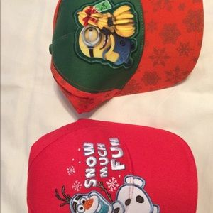 Other - New boys youth toddler Olaf minion hat lot of 2